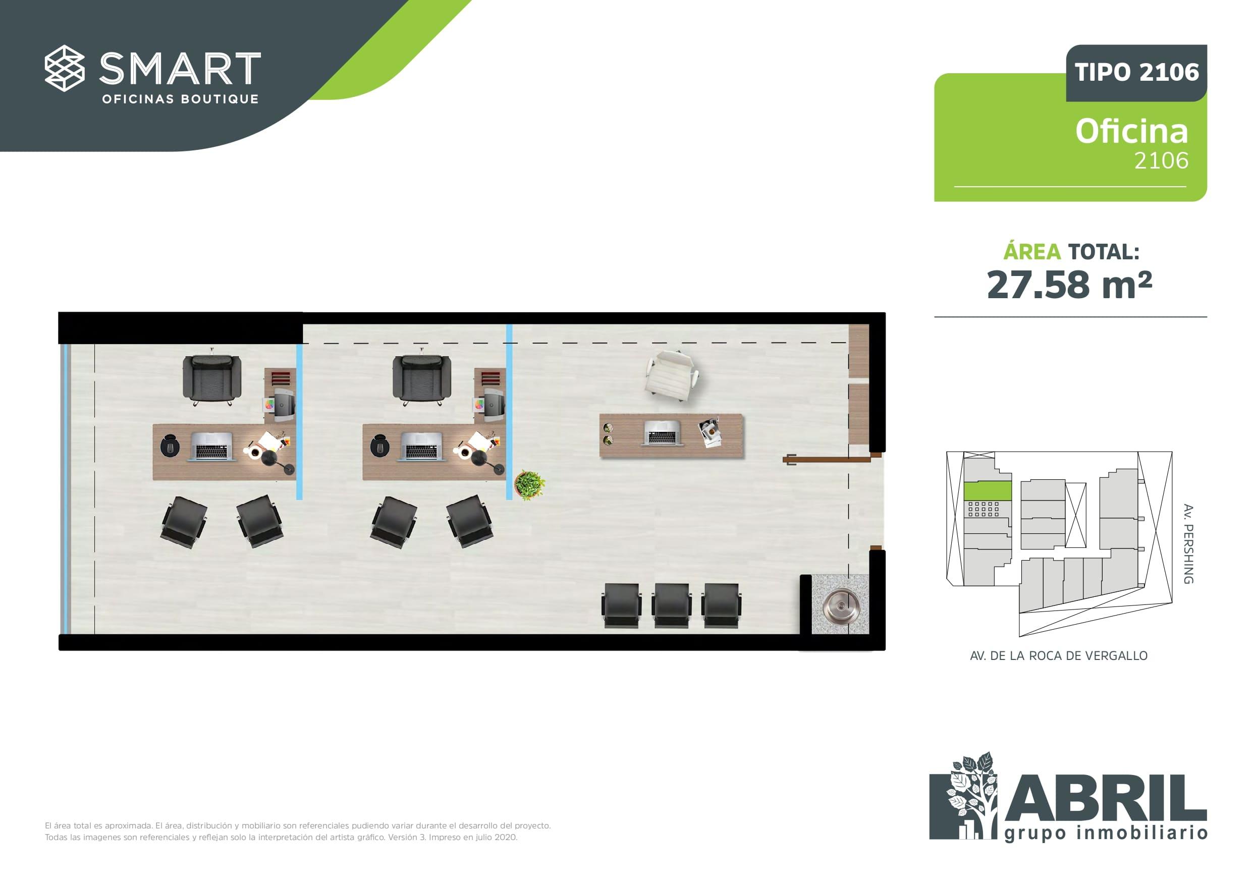 Área total: 27.58 m2
