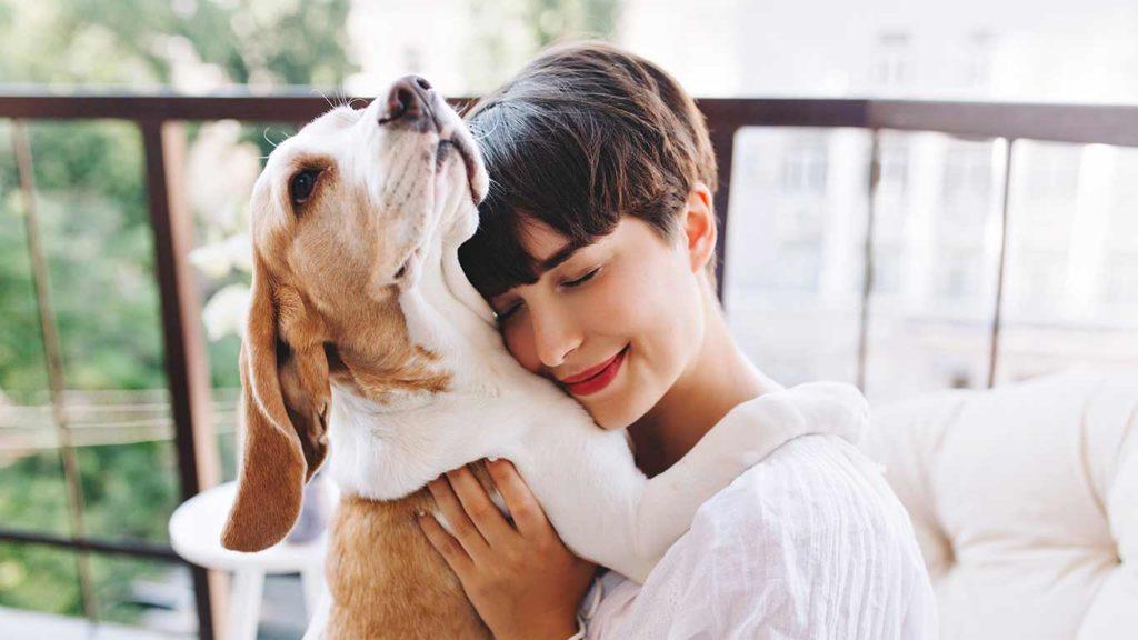 como-cuidar-a-tu-mascota-perro-mujer